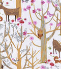 Nursery Cotton Fabric 43\u0022-Woodland Scene