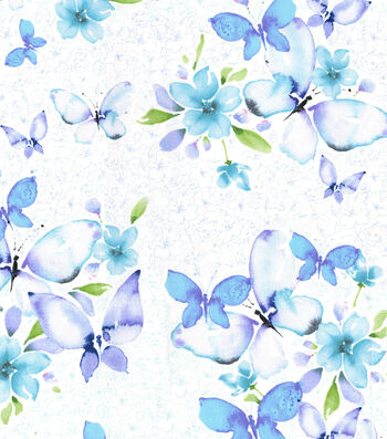 "Kathy Davis® Premium Cotton Fabric 44""-Butterflies"