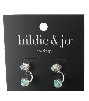 hildie & jo™ Silver Earrings-Blue Stones