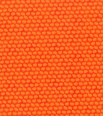 "Holiday Showcase™ Harvest Cotton Fabric 43""-Mini Pumpkins"
