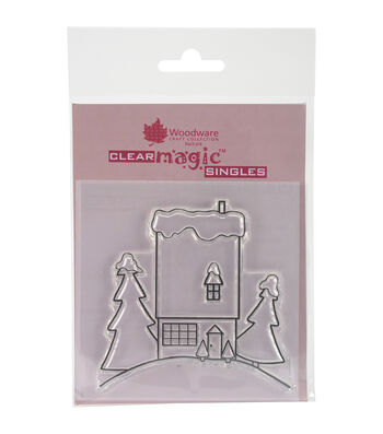Woodware Craft Collection Clear Magic Stamp-The House On The Hill