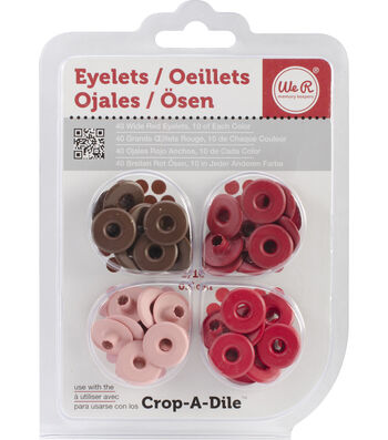 We R Memory Keepers Eyelets Wide 40/Pkg