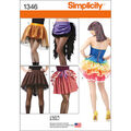 Simplicity Pattern 1346-Misses\u0027 Costume Skirts and Bustles