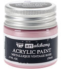 Prima Marketing Art Alchemy Acrylic Paint-Metallique Vintage Rose