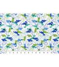 Snuggle Flannel Fabric 42\u0022-Blue Green Dinosaurs