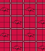"University of Arkansas Razorbacks Flannel Fabric 42""-Plaid, , hi-res"