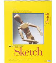 """Strathmore Spiral Sketchbook 18""""x24"""", , hi-res"""
