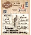 Dreamerland Crafts Sentiments Clear Stamp Set 3\u0027\u0027x4\u0027\u0027-Birthday 04