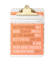 American Crafts™ Jen Hadfield Office Clipboard-Gold Dots Be Happy, , hi-res