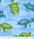 Anti-Pill Fleece Fabric 58\u0022-Underwater Sea Turtles