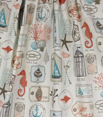 Home Essentials™ Print Fabric 45''-Coral Coastal
