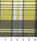 Anti-Pill Fleece Fabric 59\u0022-Dino Green Plaid