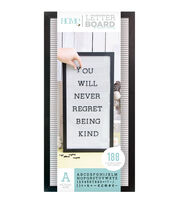 DCWV Home 10''x20'' Black & White Letter Board with 1'' Black Letters, , hi-res