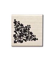 Hampton Art™ Cam & Chloe Mounted Stamp-Corner Flourish, , hi-res