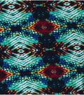 Southwest Fabric 58\u0022-Black, Turquiose, and Orange