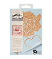 Spellbinders® Shapeabilities® Etched Die-Botanical Heart Pair, , hi-res