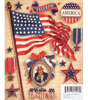 Military Grand Adhesions Embellishments-American Flag