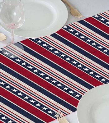 Americana Patriotic 18''x60'' Table Runner-Stars & Stripes