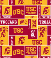 University of Southern California Trojans Fleece Fabric 58''-Block, , hi-res