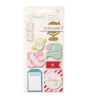Shimelle Layered Chipboard Stickers-, , hi-res