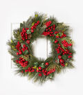 Blooming Holiday 26\u0027\u0027 Mixed Berry Wreath
