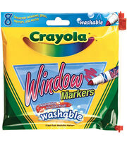 Crayola Washable Window Markers-8/Pkg, , hi-res