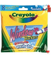 Crayola Washable Window Markers-8/Pkg, , hi-res