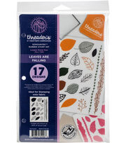 Crafter's Companion Threaders Rubber Stamp Set-Leaves Are Falling, , hi-res
