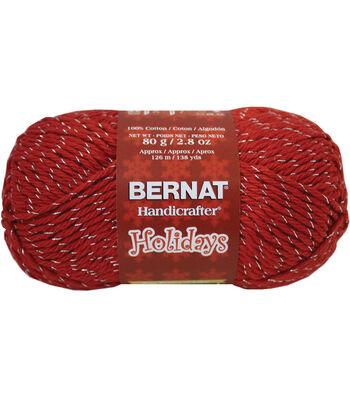 Bernat Handicrafter Cotton Ultrasoft Yarn-Holiday