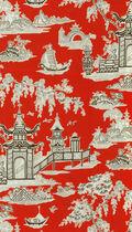 Waverly Print Fabric 54\u0022-Peaceful Temple/Lacquer