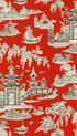 Waverly Print Fabric 54\u0022-Peaceful Temple/Lacquer