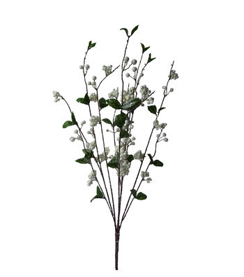 Blooming Holiday Christmas 30'' Berry Spray-White