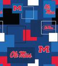 University of Mississippi Cotton Fabric 43\u0027\u0027-Modern Block