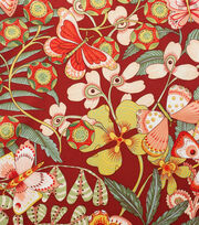 "Alexander Henry Cotton Fabric 44""-Chiara Brick Red, , hi-res"