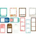 Happy Day Cardstock Tag Frames 12/Pkg-