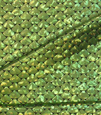 "Cosplay by Yaya Han Metallic Scales Fabric 59""-Metallic Lime"