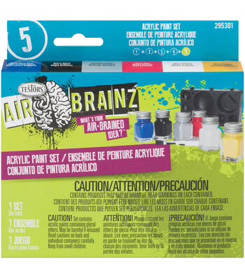 AirBrainz Acrlyic Paint Set-Primary
