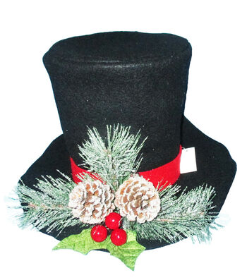Maker's Holiday Christmas Felt Collapsible Hat Tree Topper-Black