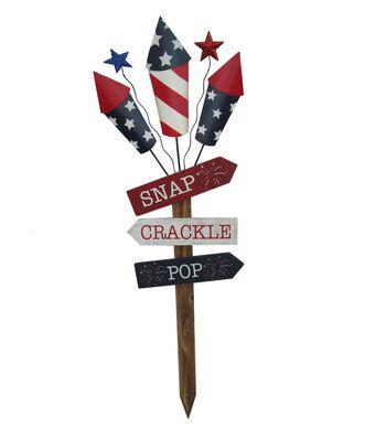 Americana Patriotic Yard Stake-Snap, Crackle & Pop