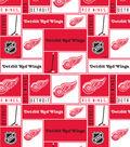 Detroit Red Wings Cotton Fabric 43\u0027\u0027-Block
