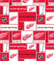 Detroit Red Wings Cotton Fabric 43''-Block, , hi-res