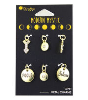 Blue Moon Beads® Modern Mystic Gold Focus & Believe Mini Charms, , hi-res