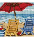 Dimensions Stitched In Thread Mini Needlepoint Kit Beach Chair Duo