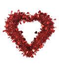 Valentine\u0027s Day Small Heart Tinsel Wreath