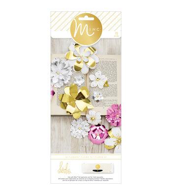 Heidi Swapp Minc 3-D Paper Flowers 70/Pkg