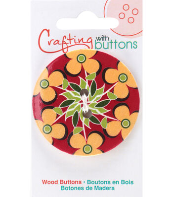 Crafting with Buttons Global Chic 1.75'' Wood Button-Fiji