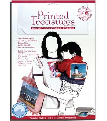 Printed Treasures Printer Fabric Sheets Iron-On 3pcs