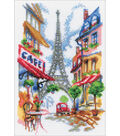 Quiet Corner Of Paris Counted Cross Stitch Kit 14 Count