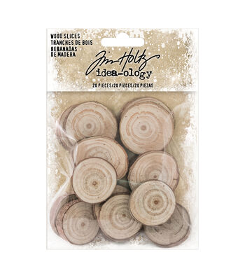 Tim Holtz Idea-ology Findings Wood Slices