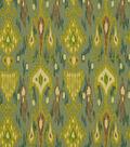 Home Decor 8\u0022x8\u0022 Fabric Swatch-Print Fabric Robert Allen Khanjali Peacock